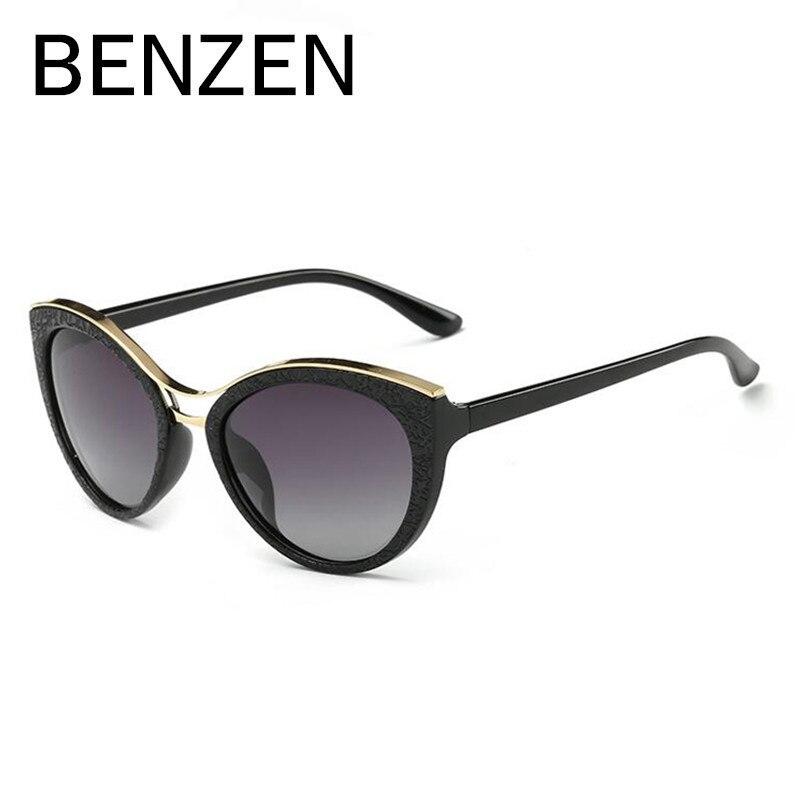 Gafas de sol BENZEN de ojo de gato, gafas de sol clásicas polarizadas para mujer, gafas de sol para mujer, gafas de sol para conducir con funda Original 6333