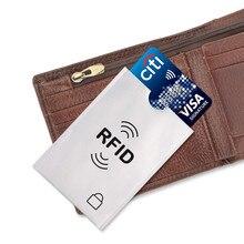 10 قطعة تتفاعل محمية بطاقة الأكمام حامي الخصم الائتمان تماس بطاقة الأمن منع حامل بطاقة المسح الضوئي غير المصرح به