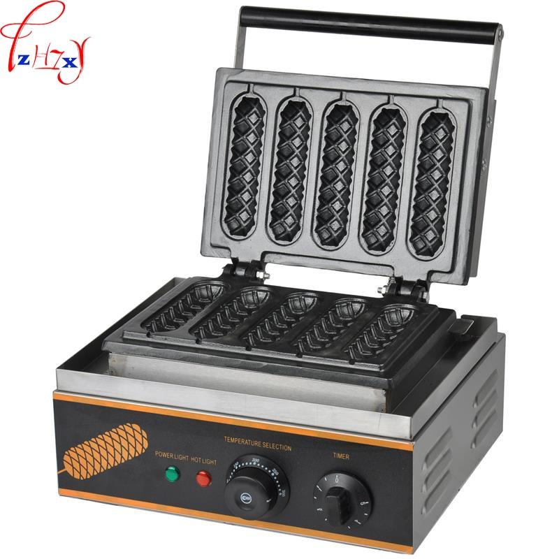 FY-117  110V/220V   Hot Dog Waffle machine commercial lolly hotdog sausage specs  Hotdog Waffle Maker Use Electric 1PC