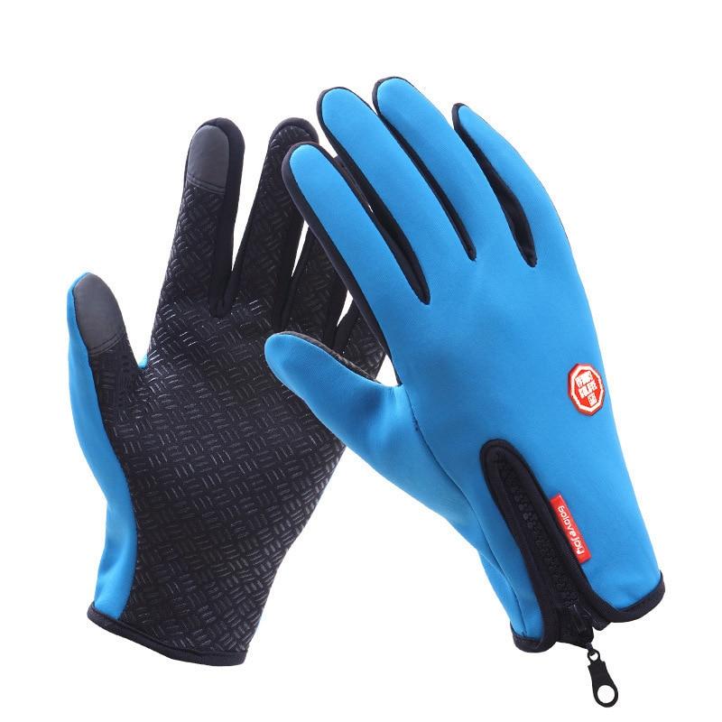 Guantes de Ciclismo de dedo completo para hombre y Mujer, impermeables, para...