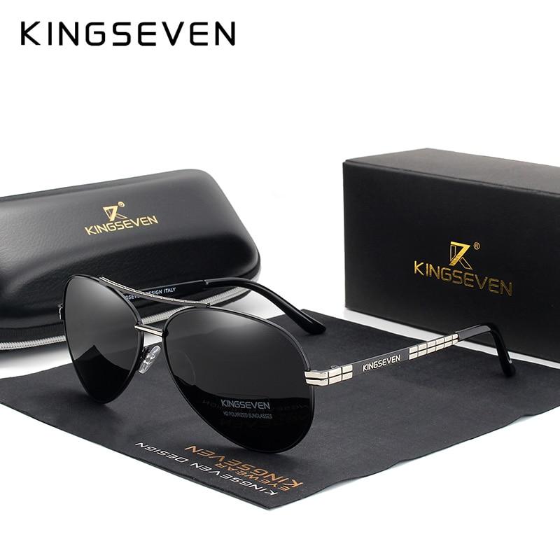 Солнцезащитные очки KINGSEVEN мужские, поляризованные зеркальные линзы, аксессуары для вождения, UV400