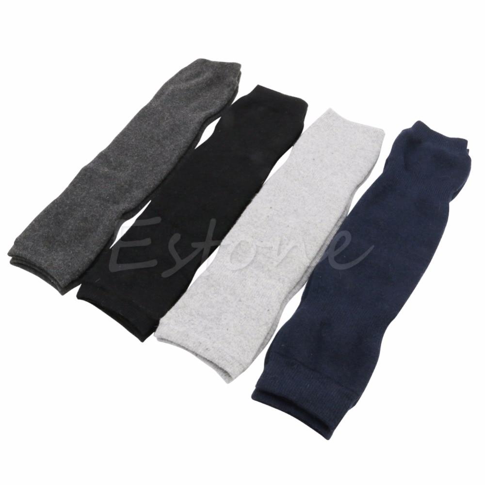 New Women Men Warm Cashmere Wool Knee Warmers Leg Thigh High Pad Legging 4 Colors