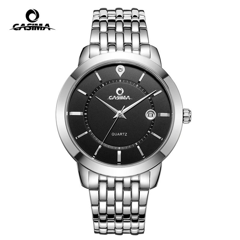 CASIMA Luxury Brand Black Gold Watch Men Women Couple Lovers Quartz Wrist Calendar Clock Saat Relogio Masculino Feminino