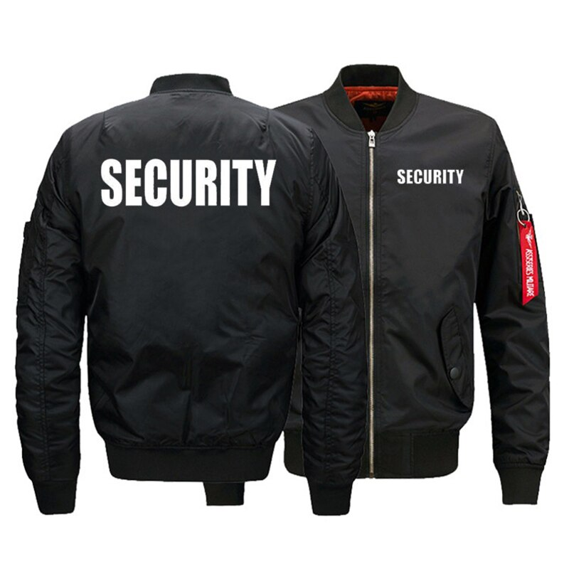 Chaqueta de uniforme de seguridad, cazadora de hombre de talla estadounidense, chaqueta de vuelo cálida con cremallera, abrigos gruesos de invierno para hombre, prendas de vestir, triangulación de envíos