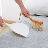 bamboo handle mini brooms shovel set household plastic cleaning brush small broom dust shovel
