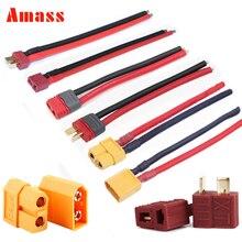 Amass T plug XT60-XT60 XT30U XT90H plug mâle femelle avec gaine boîtier 10awg 12awg 14awg fil de silicone