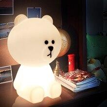 Lampe ours brun LED veilleuse enfant lampe de table lampe de noël créative lampe lampara luminaires pour la chambre bébé enfants