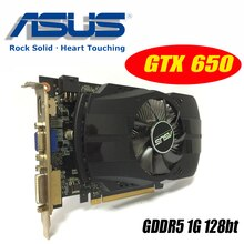 Asus GTX-650-FMLII-1GB GTX650 1GB GTX 650 1G D5 DDR5 128 Bit bilgisayar masaüstü grafik kartları PCI Express 3.0 bilgisayar grafik kartları