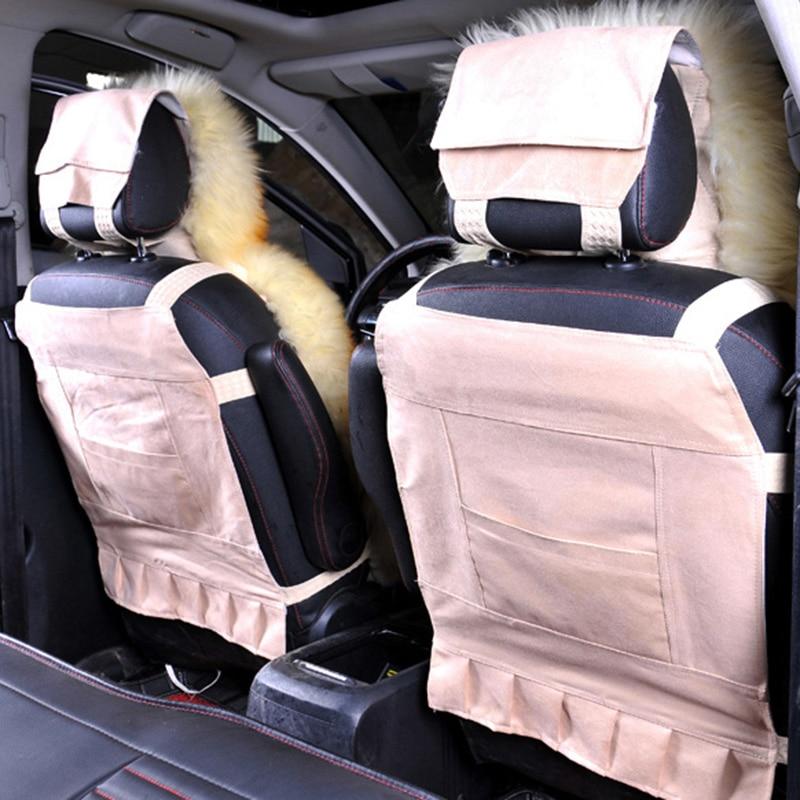 Wool Car Seat Cover Winter Warm Plush Car Wool Cushion Natural Fur Australian Sheepskin Auto Woo Seats Cover Fur Accessories enlarge