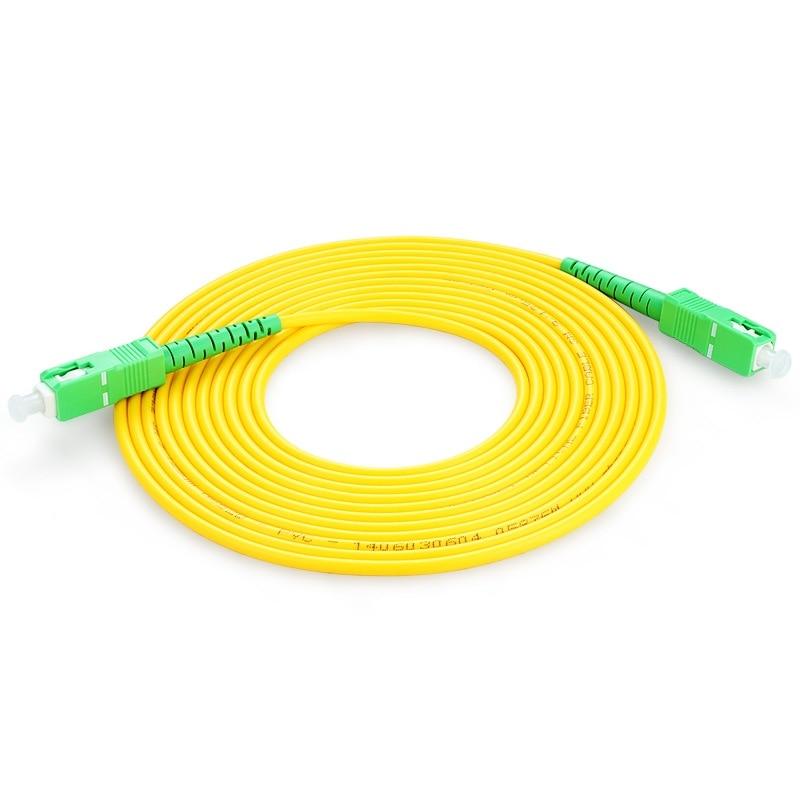 Cable de puente óptico de 10 Uds SC/fibra APC Cable de parche de fibra óptica SC/APC-SC/fibra APC