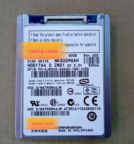 "Nueva unidad de disco duro 1,8 ""CE/ZIF 80GB MK8009GAH para notebook 2510P 2710P TZ13 TZ33 Latpop reemplazar mk1214gah mk1011gah"