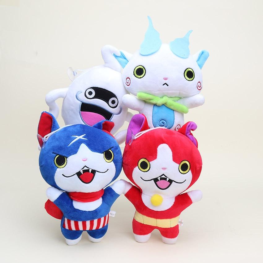 Reloj yo-kai Yokai de 20cm muñeca de peluche Jibanyan Komasan Whisper Youkai juguetes de peluche colgantes muñecas de peluche llavero Brinquedos