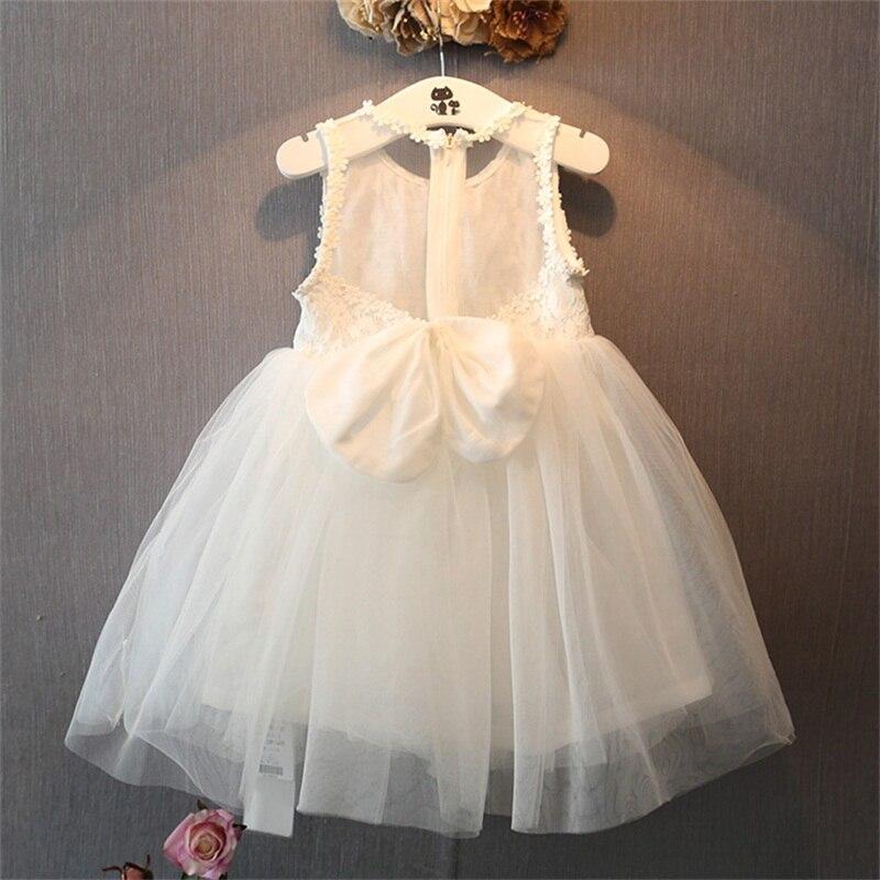 Latest Flower Girl Dresses with Bow Communion Party Ball Pageant Dress for Little Girls Kids/Children Dress for Wedding