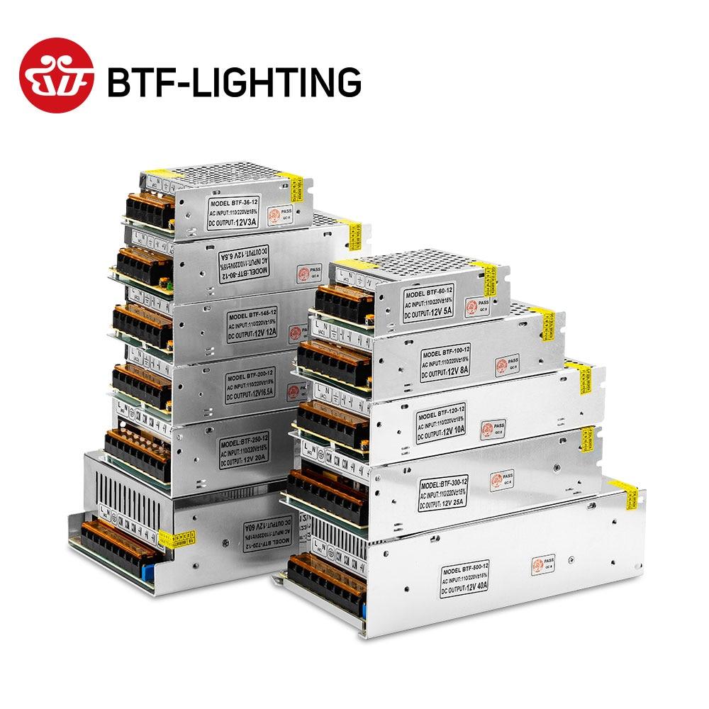 5V 12V 24V Switch LED Power Supply Transformer for WS2812B SK6812 1A 2A 3A 5A 6.5A 8.5A 10A 12.5A 16.5A 20A 25A 30A 40A 50A 60A