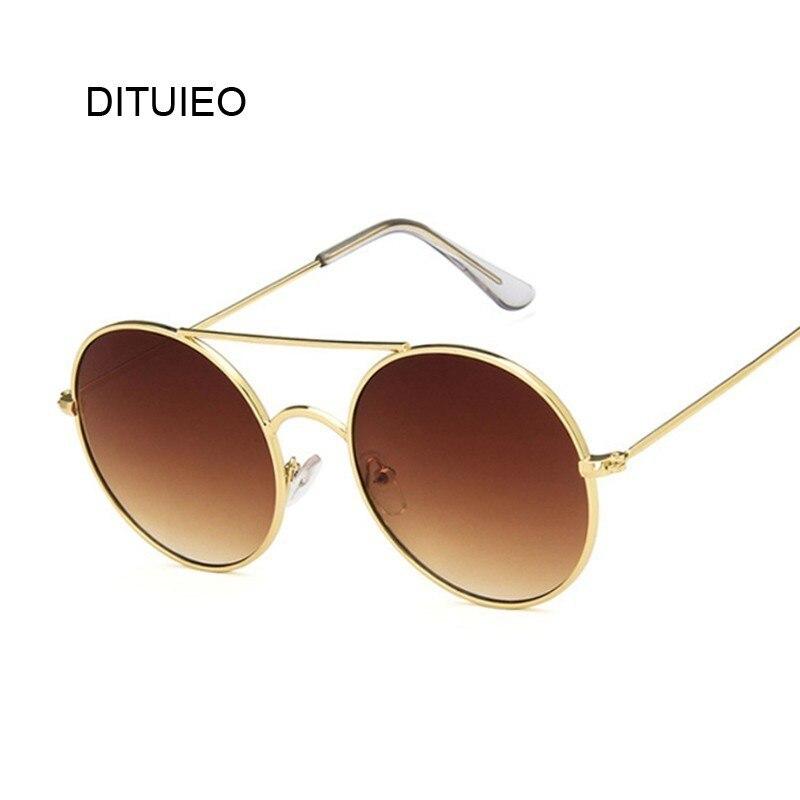 2020 gafas De sol redondas Retro De lujo para mujer, gafas De sol con espejo De marca De diseñador, gafas De sol Vintage De alta calidad, gafas De sol para mujer