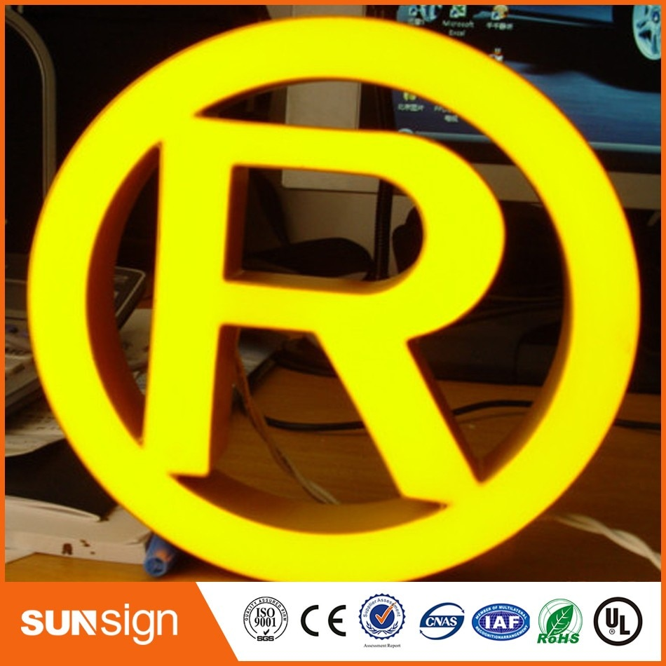 wholesale outdoor advertising brushed stainless steel LED epoxy resin channel letter недорого