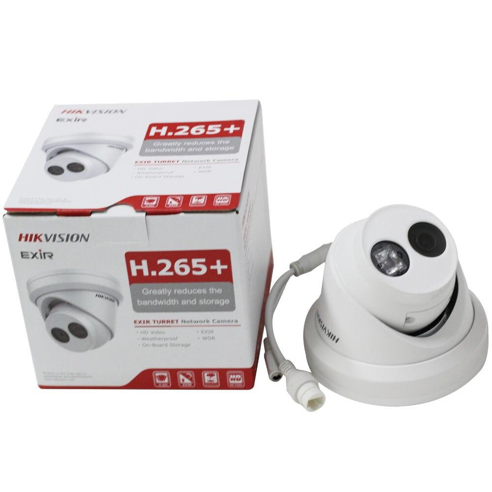Cámara Hikvision DS-2CD2343G0 Mini Dome POE IP 4MP IR de red de torreta fija cámara de vigilancia de seguridad CCTV cámara de visión nocturna