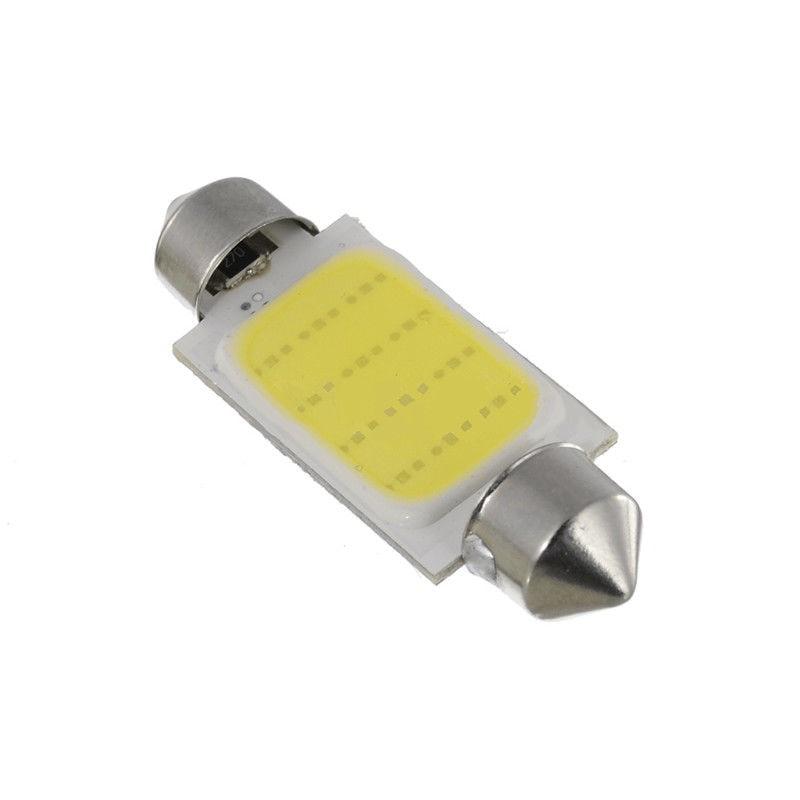 10 Uds luces interiores 6500K 42MM adorno blanco COB LED mapa luces Domo luces caliente alta calidad duradero práctico