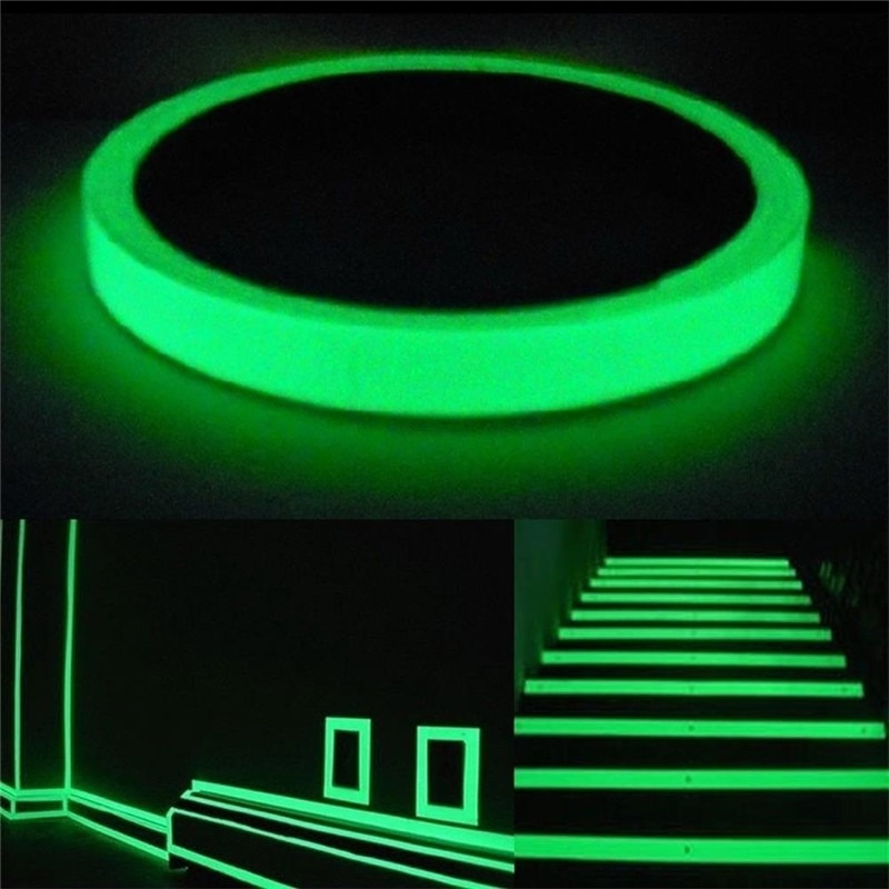 Светящаяся лента самоклеящаяся Фотолюминесцентная светящаяся в темноте наклейка на стену Предупреждение сценическое украшение