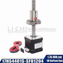 Nema 17 vis à billes moteur pas à pas 1.7A 40N.cm 17HS4401S SFU1204 12mm diamètre 42BYGH cnc machine de gravure pour moteur dimprimante 3D