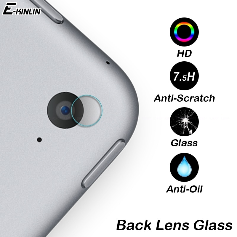 Lente Da Câmera de volta Claro Protetor de Tela de Vidro Temperado Película Protetora Para iPad 2017 Ar Pro Mini 1 2 3 4 5 6 12.9 10.5 9.7 7.9