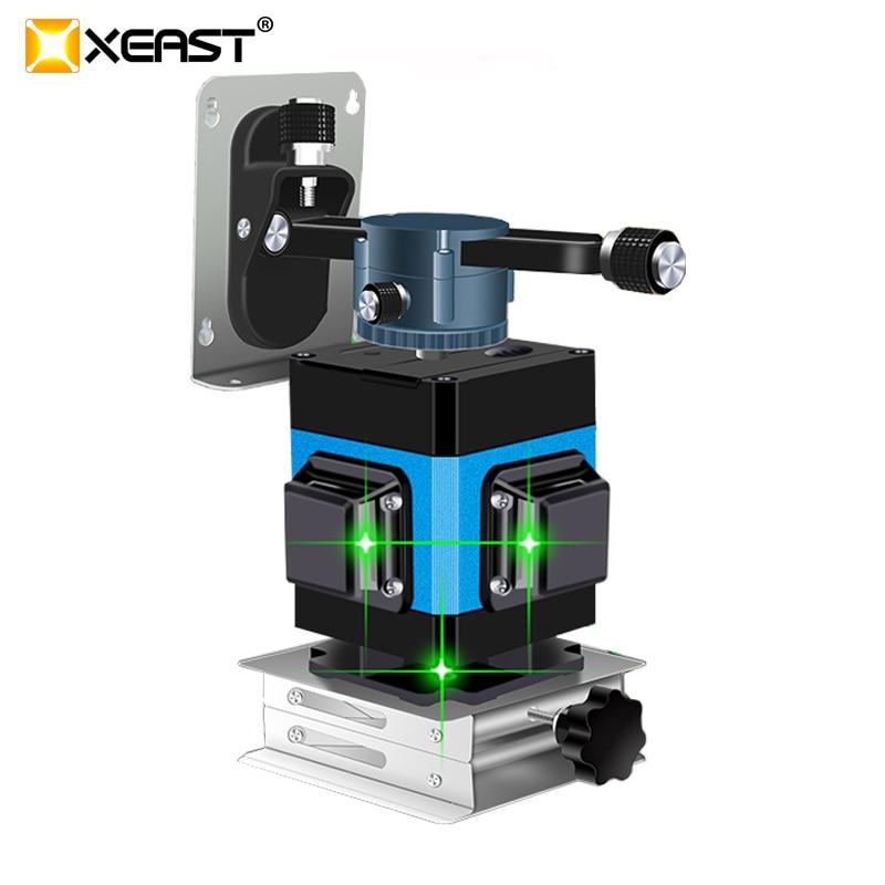 Xeast 2019 12 linha quente nível do laser para a telha que coloca o auto-nivelamento 360 horizontal e vertical cruz verde 3d nível do laser