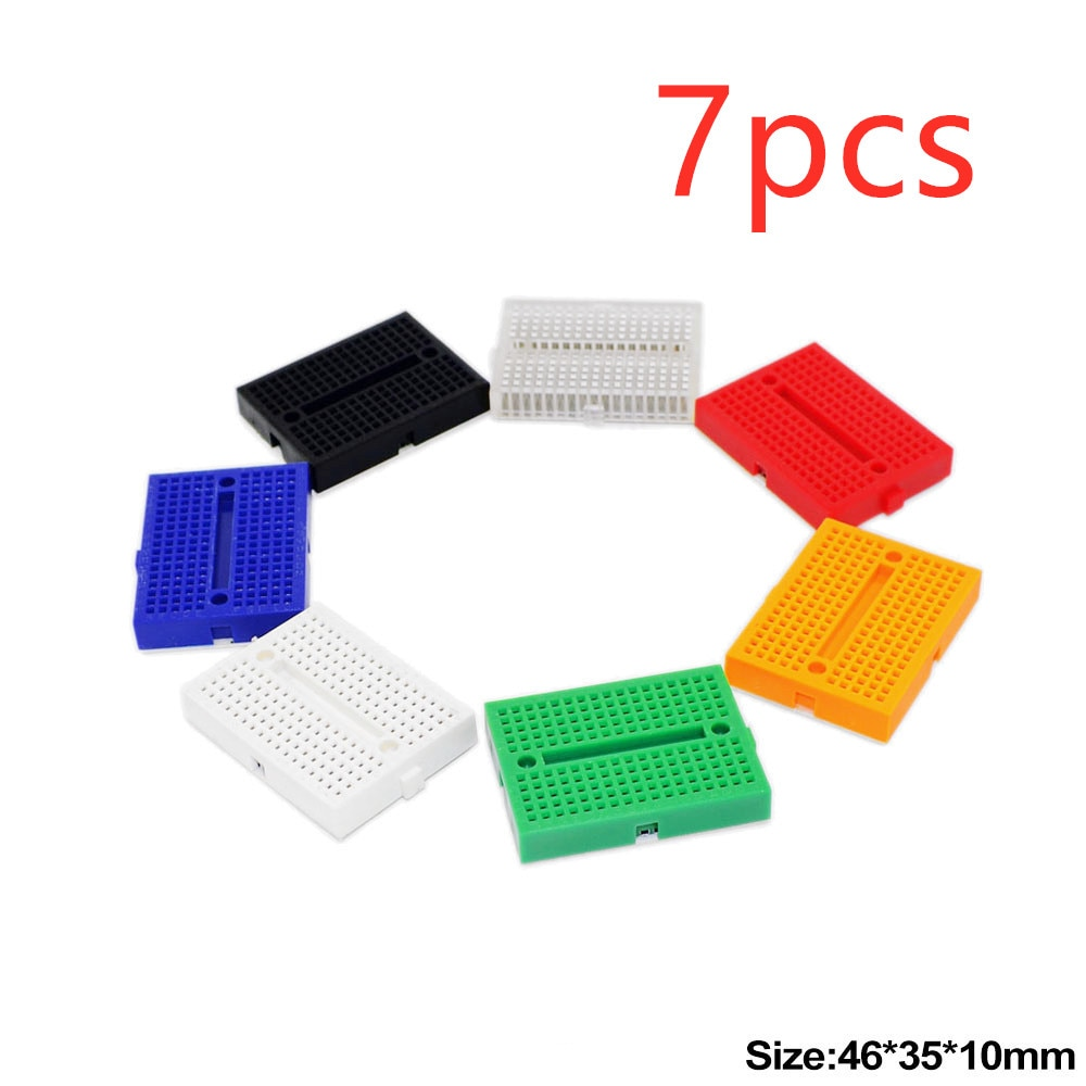 Free shipping!7PCS SYB-170 Mini Solderless Prototype Experiment Test Breadboard  for arduino(7 kinds of colors / set )