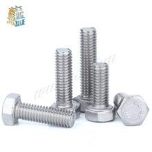 Tige hexagonale à filetage fin 5 pièces/lot   M10x1.0 boulon Din933 M10 pas 1.0mm longueur 12/16/20/25/30/35/40/45/50/60mm
