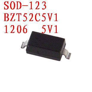 Free shipping  Zener diode  BZT52C5V1    SOD-123 100PCS
