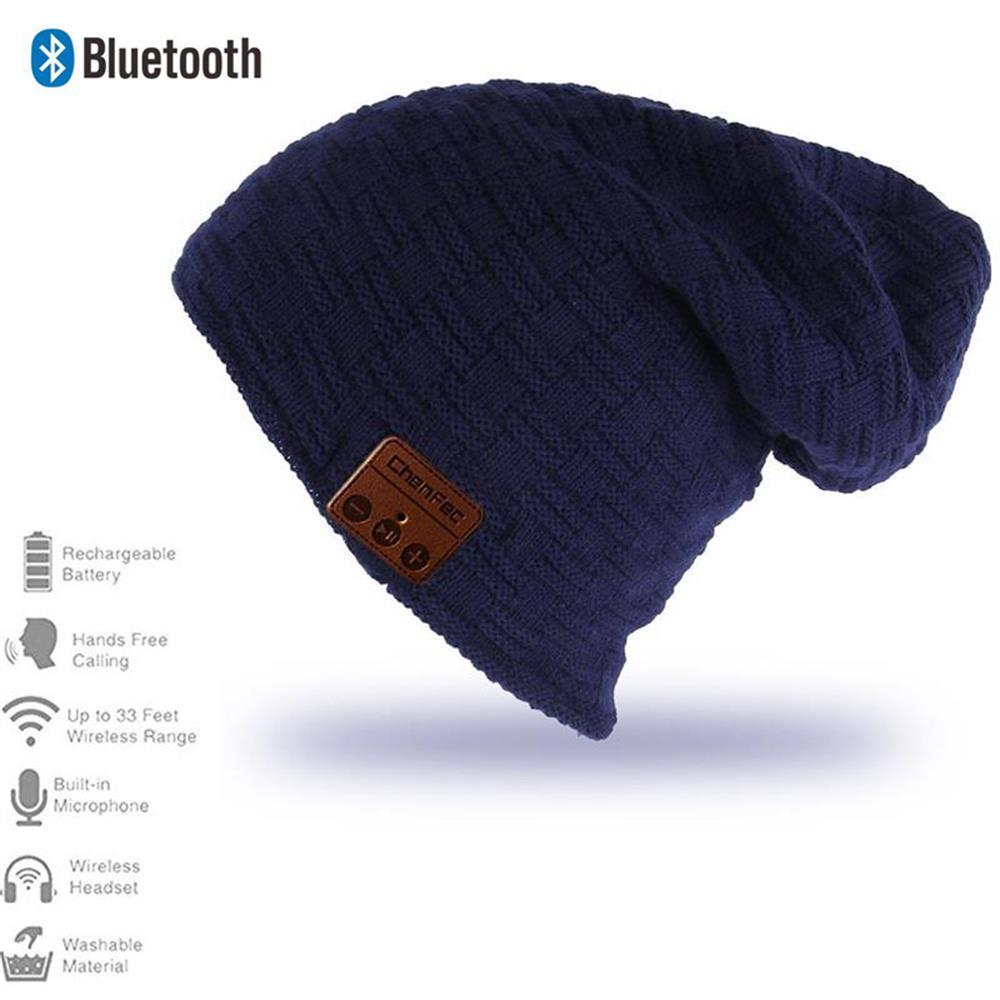 Gorro de invierno con Bluetooth inalámbrico V4.2, gorro con auriculares, micrófono, música sin manos, Mp3, gorro inteligente mágico, gorro, regalo de Navidad