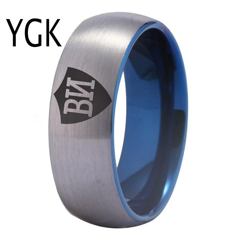 YGK Schmuck Russische CTR Ring männer Wolfram Hochzeit Ring Klassische Engagement Für Frauen Mann oder Frau Party Ring Geschenk silber & Blau
