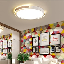 Blanc/noir/or fini plafond moderne à LEDs lumières pour cuisine salon chambre bureau maison 110 V 220 V plafonnier