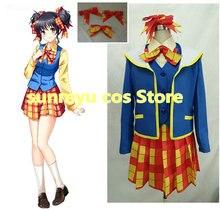 Frete grátis! doukyusei another outro mundo ~ yui meninas uniforme cosplay traje, tamanho customizável, halloween