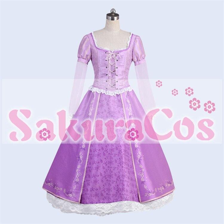 Tangled princesa rapunzel vestido cosplay traje adulto feminino halloween carnaval trajes feminino festa de halloween