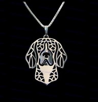 wholesale cartoon beagle necklace new fashion animal dog jewelry golden colors plated 12pcslot