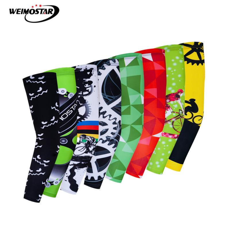 Weimostar, calentadores de brazo transpirables para ciclismo, protección UV, manga de brazo para bicicleta MTB, Mangas de verano para bicicleta, Mangas de baloncesto del brazo