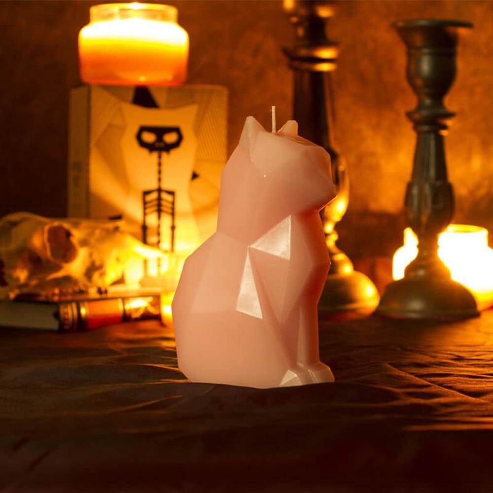 Прямая поставка, черная свеча-кошка, домашнее животное, Свеча ручной работы, ремесло, Свеча со скелетом, Рождество, Новый Год, украшение, подарок