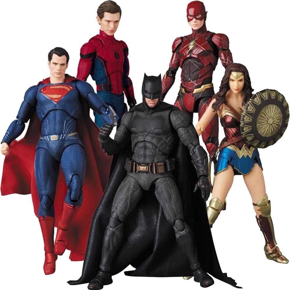 Лига Справедливости Mafex Aquaman 061 Бэтмен 056 флэш чудо женщина 048 Супермен Человек-паук 047 фигурка игрушка кукла