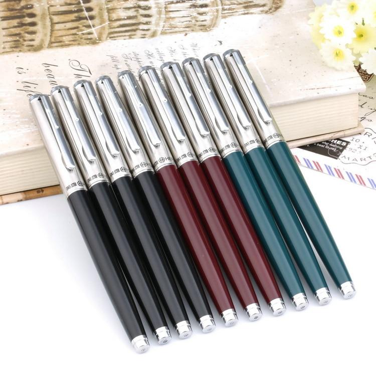 10 Teile/satz Hero 007 Klassische Stil Metall Brunnen Stift Hohe Qualität 0,5mm Farbwerk Stifte für Schreiben Schule Schreibwaren Freies verschiffen