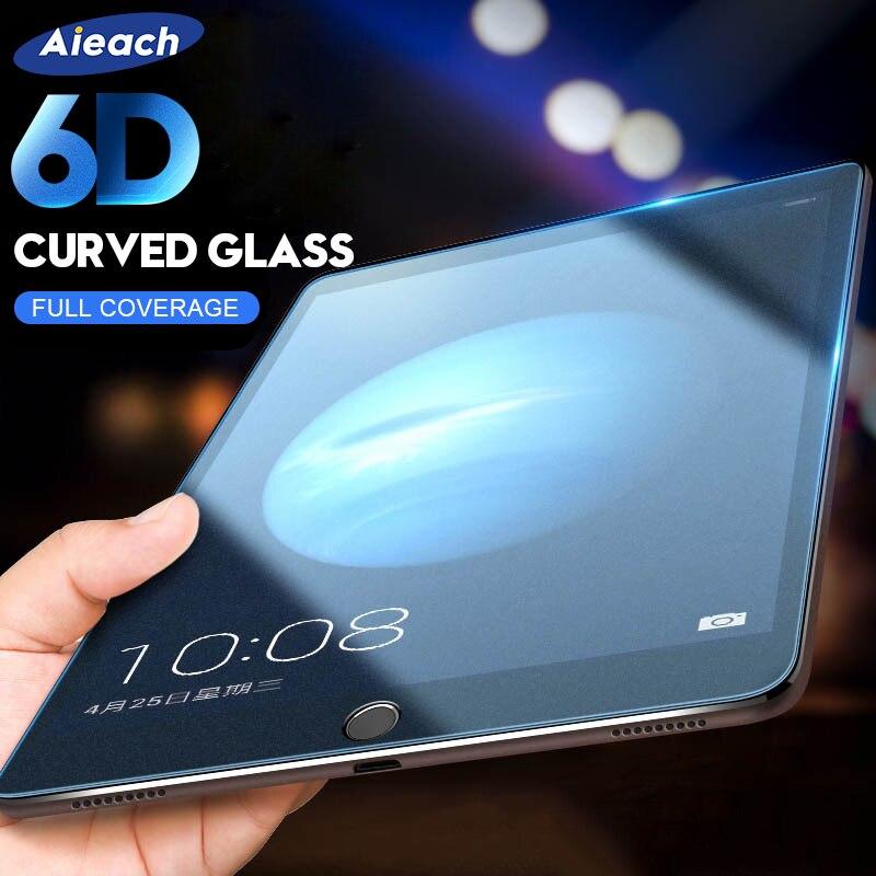 6D защита экрана с изогнутыми краями для iPad Pro 11 2020 10,5, закаленное стекло для iPad 10,2 2019 2017 2018 9,7 Air 1 2 3 mini 4 5