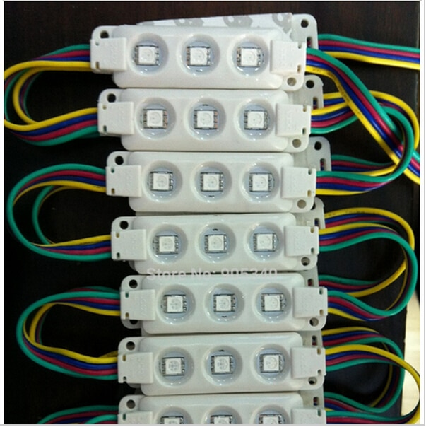 5050 RGB 3leds white shell injection led module ,epistar chip,12V,0.75w, RGB led module 2 years warranty,led signs