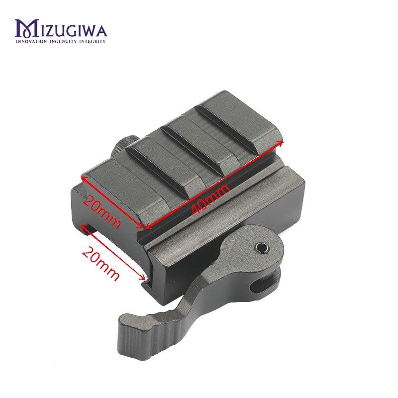 Низкопрофильный быстроразъемный блок Picatinny, адаптер для крепления на рельсы, полудюймовый 0,5 дюйма, 20 мм
