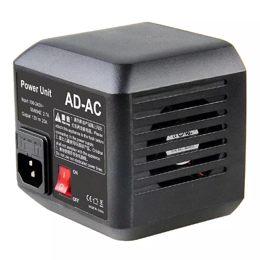 Godox AD-AC fonte de alimentação ac adaptador de parede cabo para ad600b ad600bm ad600m ad600
