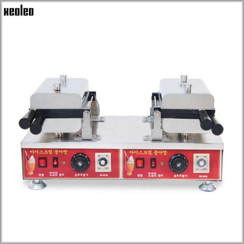 XEOLEO máquina Taiyaki helado máquina de taiyaki comercial máquina de gofres de pargo máquina con no-Stick superficie de cocción