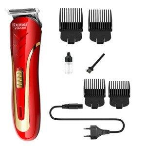 KEMEI Carbon Steel Head Hair Trimmer Rechargeable Electric Razor Men Beard Shaver Electric Hair Clipper EU Plug KM-1409