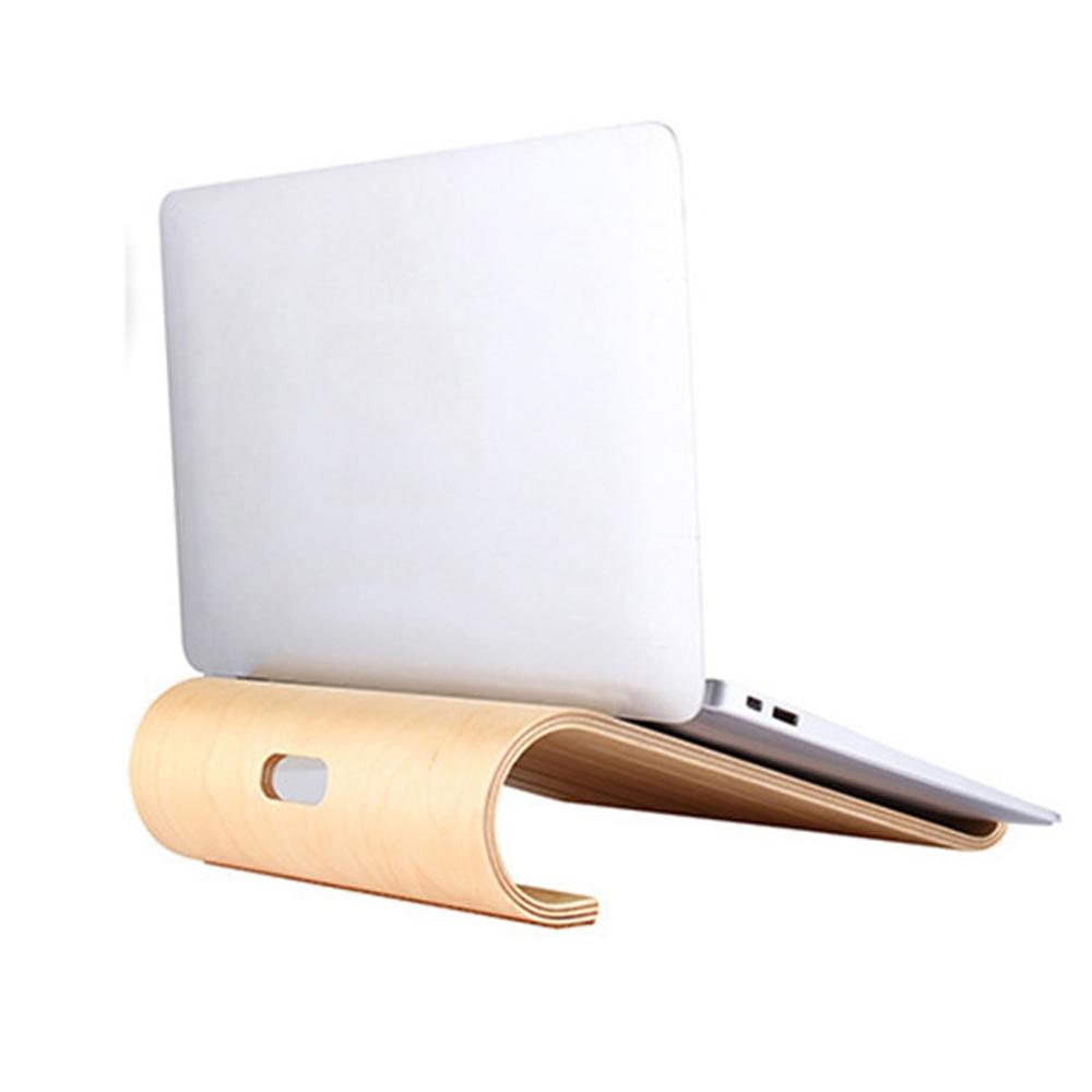De Madera Notebook hueco de refrigeración de soporte de computadora portátil de refrigeración soporte para Macbook Air Pro iPad Tablet