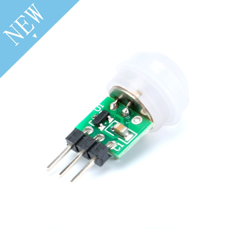 1 unidad Mini IR infrarrojo piroeléctrico PIR Sensor de movimiento humano módulo Detector automático AM312 Sensor DC 2,7 a 12V