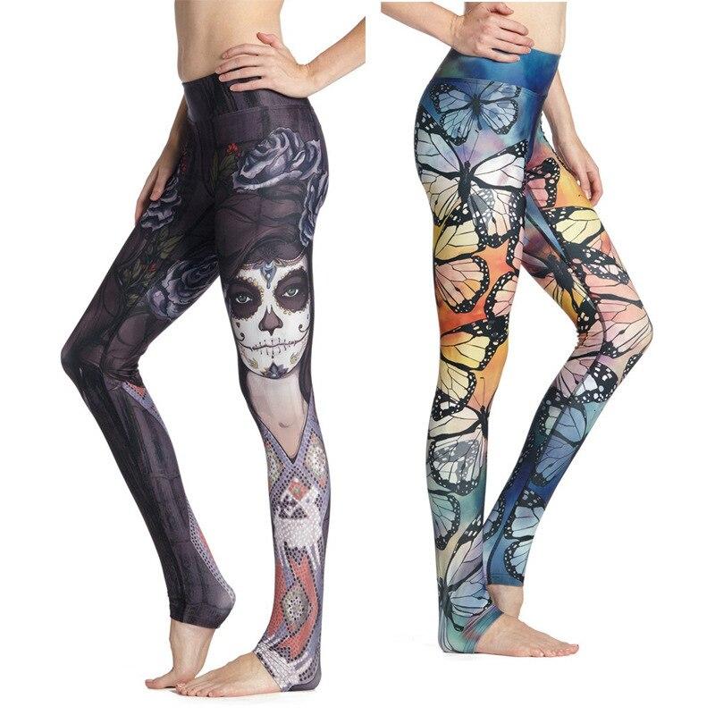 Pantalones de Yoga para mujer con impresión única, mallas deportivas, mallas ajustadas sin costuras para gimnasio, pantalones deportivos para Fitness, pantalones elásticos para correr
