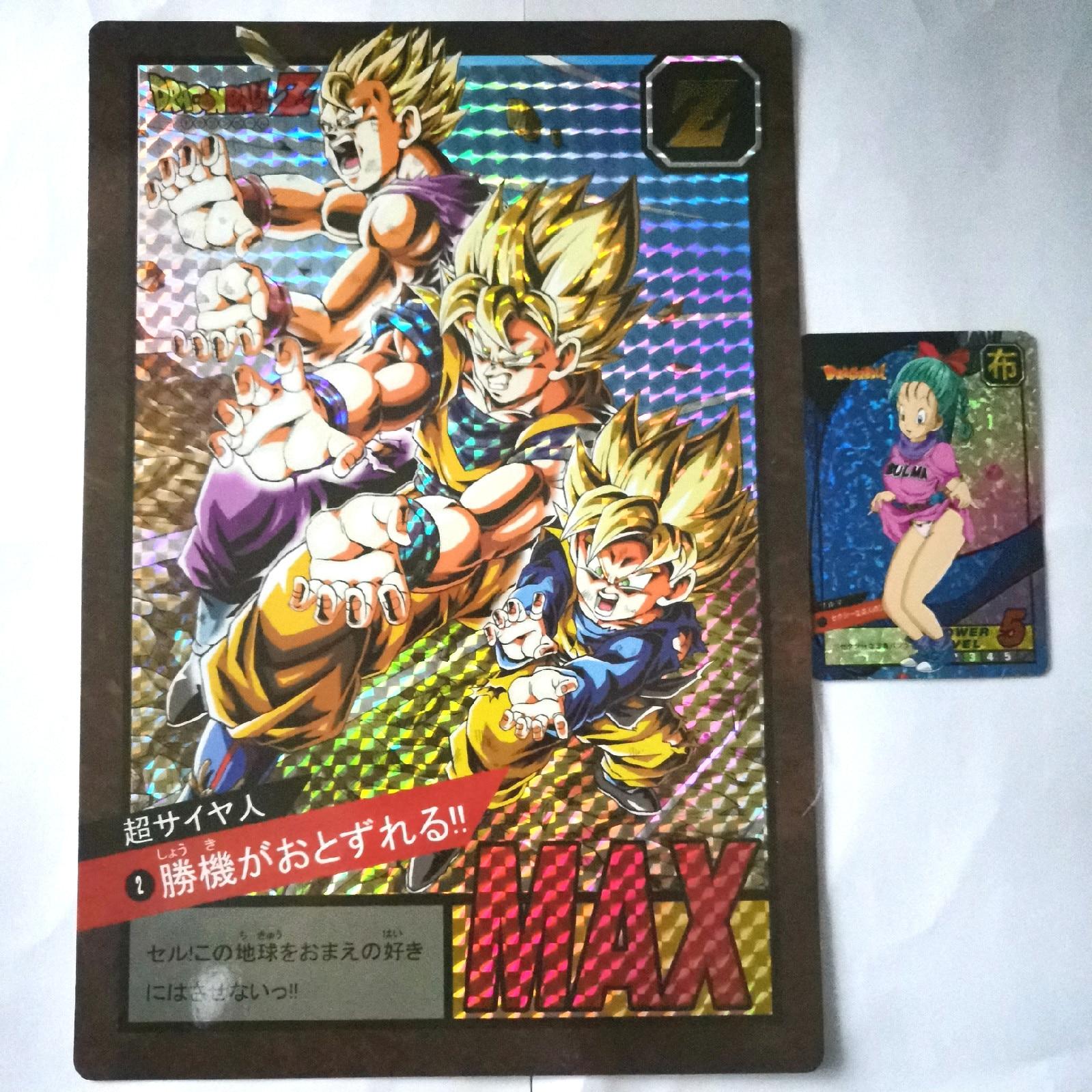 8pcs/set Big Card Super Dragon Ball Length 26cm Width 18cm Heroes Battle Ultra Instinct Goku Super Game Collection Anime Cards