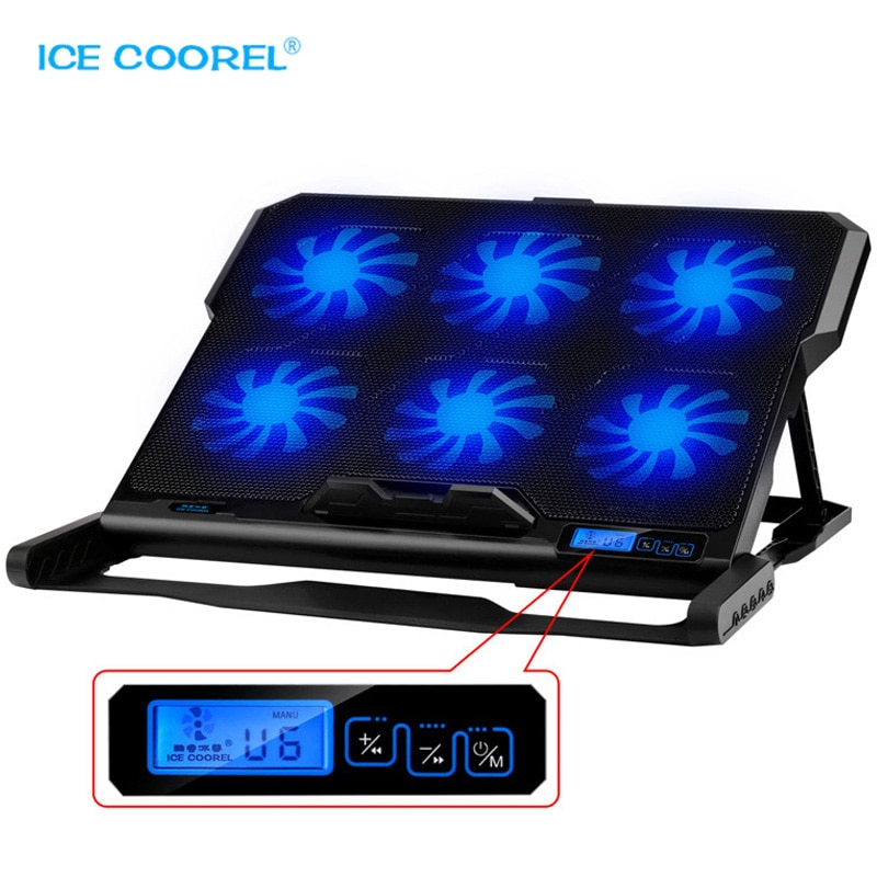 New Laptop cooler 2 USB Ports and Six cooling Fan laptop pad Notebook Stand for 12-15.6 inch